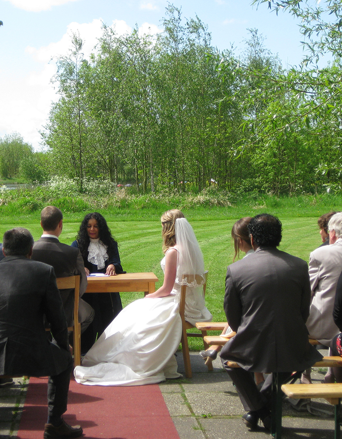 trouwen in landelijke sfeer