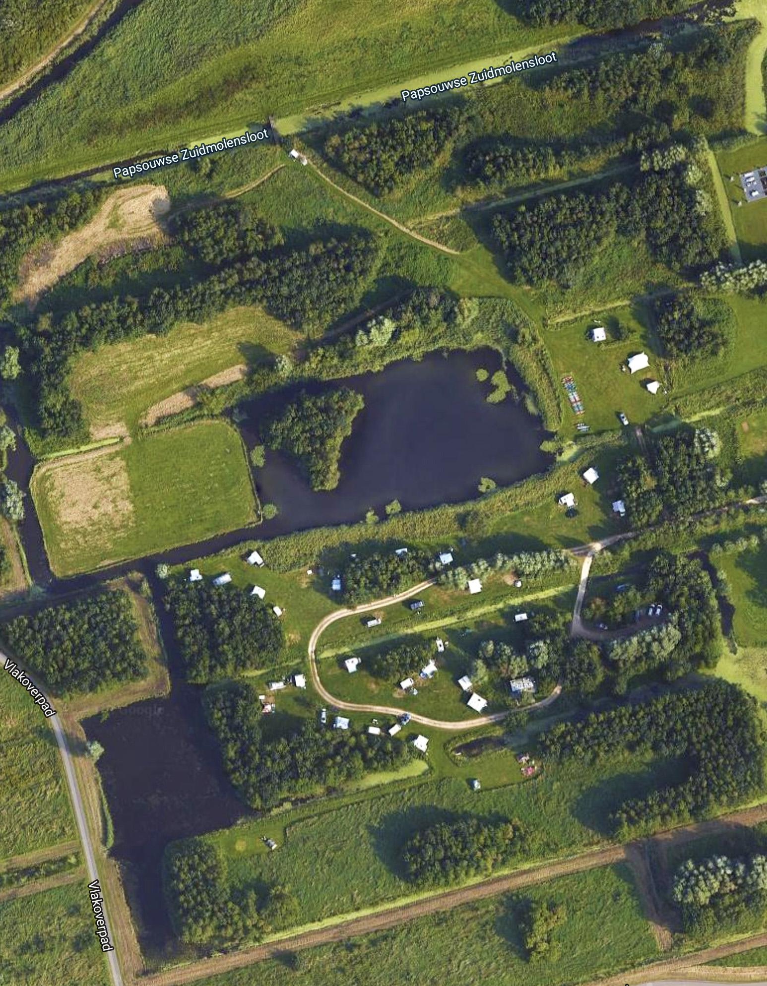 Delflandhoeve, Satelietfoto, plattegrond